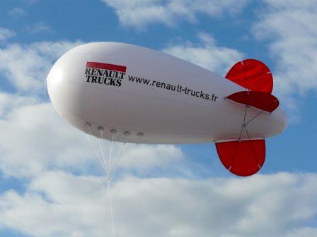 Dirigeable 6m hélium pour Renault trucks