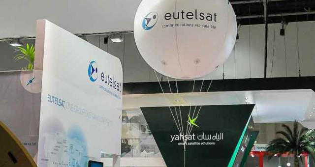 Sphère publicitaire pour Eutelsat au salon GITEX à Dubai !