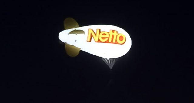 1 ballon dirigeable publicitaire 6m pour la promotion de NETTO