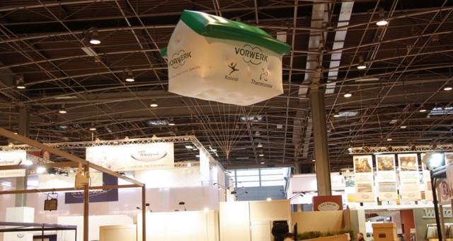 PLV gonflables sur mesure (forme maison) pour la Foire de Paris 2010