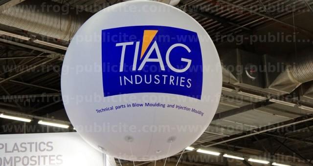 Un gros ballon hélium pour TIAG Industries | Salon MIDEST 2016 Villepinte