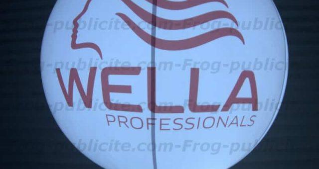 4 ballons lumineux sur trépied pour les réunions & show coiffure Wella