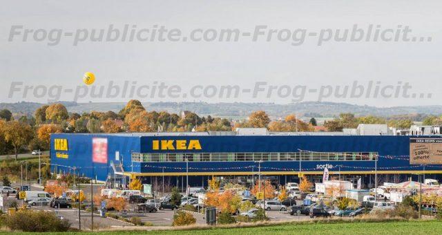 1 ballon publicitaire hélium de 3m50 pour IKEA Reims