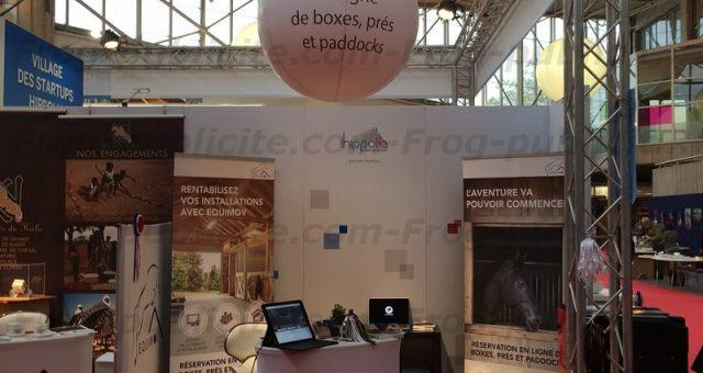 Un ballon publicitaire personnalisé pour Equimov au salon Equita Lyon 2016