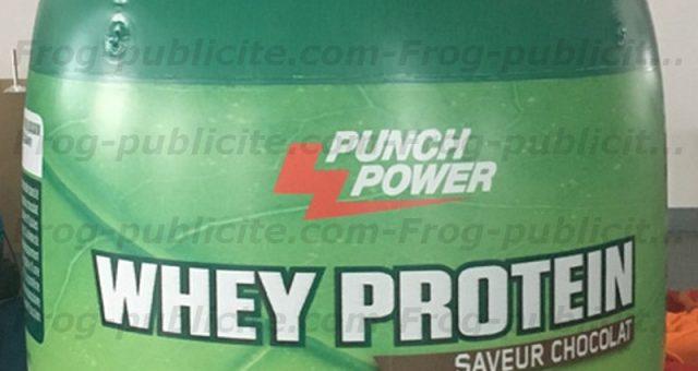 PUNCH POWER – Un flacon gonflable personnalisé pour le lancement d'un nouveau produit