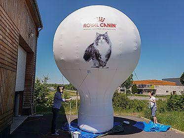 plv gonflable forme montgolfière géante