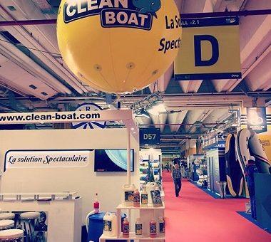 Une structure gonflable publicitaire au Salon Nautic 2016 | Clean Boat