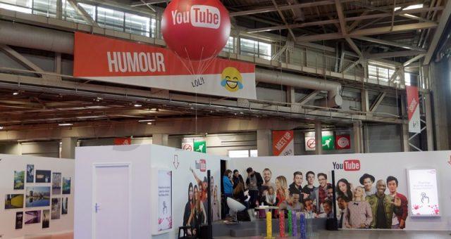 Un ballon gonflable personnalisé sur le stand «Youtube» | Vidéo City Paris 2017