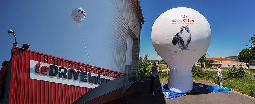 montgolfière publicitaire auto-ventilée ou gonflable pour animation commerciale ou événementiel