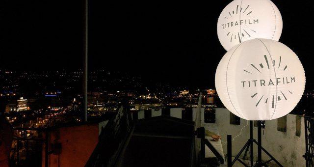 Ballon publicitaire lumineux | 4 ballons sur trépied au Festival de Cannes 2017