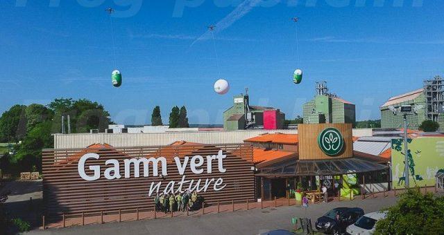 Gonflables publicitaires: opération coup de vent chez Gamm Vert Villaines Sous Bois (95)