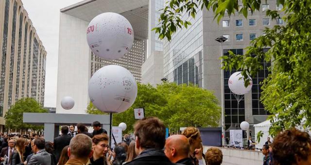 Ballon sur trépied et hélium: la Société Générale fête ses 150 ans !