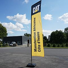 drapeau droit (rectangle) publicitaire CAT