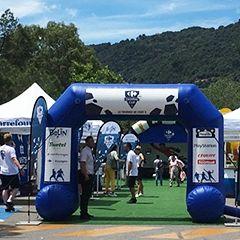 Arche gonflable auto ventilée pour la carrefour cup 2016