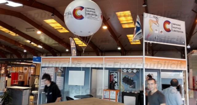 Ballons hélium pour salon en intérieur | Salon Artibat à Rennes