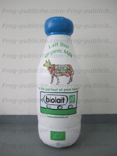 bouteille de lait gonflable forme sur mesure biolait
