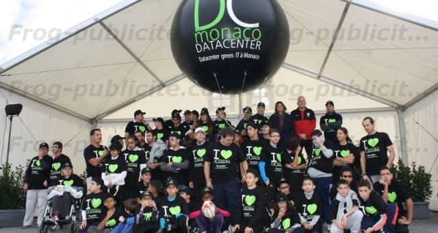 Ballon géant publicitaire: Inauguration d'un Datacenter