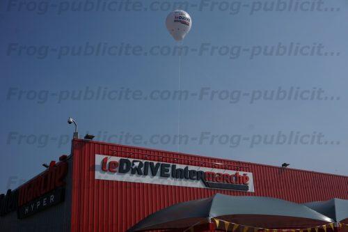 montgolfière géante hélium drive intermarché