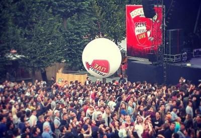 festival rock en seine photoball frog publicité