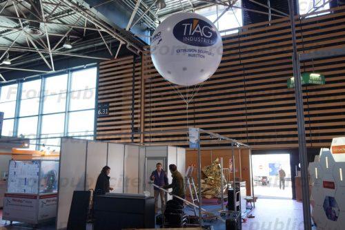 ballon sphérique pour Tiag industrie présent sur le Salon Industrie Lyon