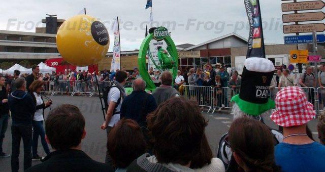 Ballon sac à dos publicitaire   Départ étape Tour de France
