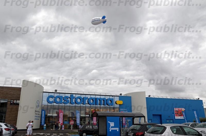 Un dirigeable publicitaire de 6m pour l'ouverture castorama ormesson à Chennevière sur Marne
