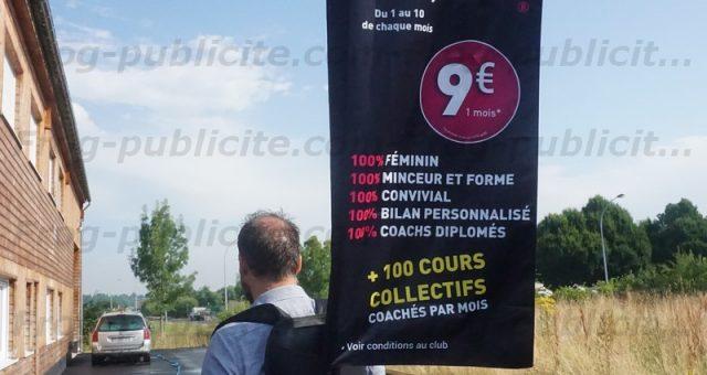 Promotion commerciale pour un club fitness | Street marketing
