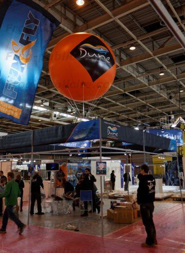 Ballon publicitaire gonflable salon de la plongée Paris 2016 - Dune