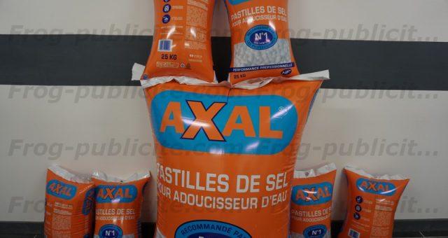 Sac géant gonflable | 106 sacs de sel Axal trompe l'oeil !