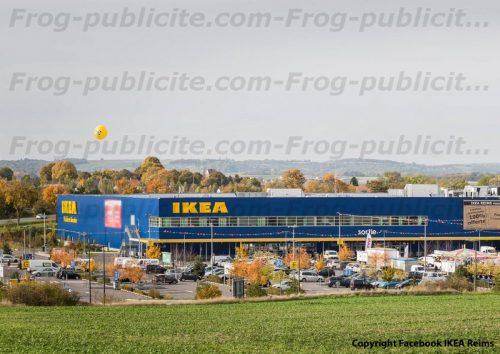 1 ballon pub hélium de 3m50 pour IKEA Reims