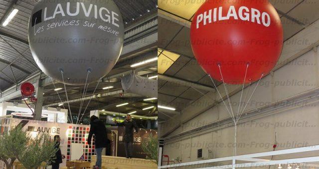 Ballons publicitaires personnalisés Lauvige et Philagro   salon SITEVI 2016