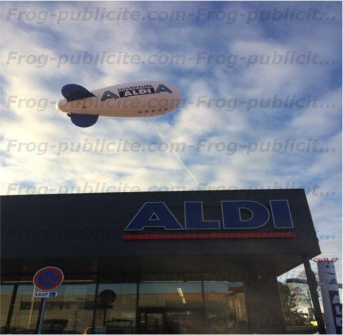 Un dirigeable publicitaire 6m pour l'ouverture du magasin Aldi à Cernay