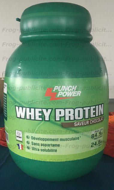 forme personnalisée gonflable punch power pour promotion nouveau produit