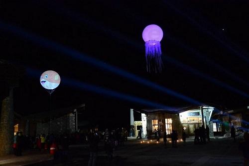 3 plv gonflable lumineuses - féerie des lumières sur les pistes Avoriaz