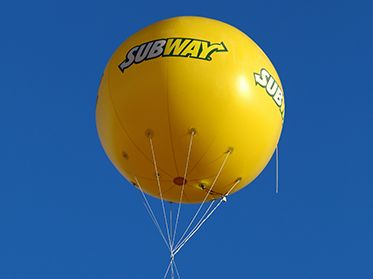 publicité gonflable - Ballon subway impression 4 faces