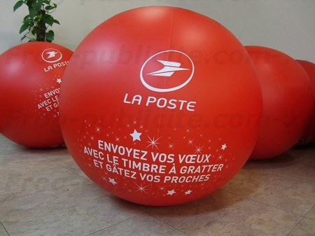 Ballon promotionnel | Opération marketing des timbres à gratter La Poste