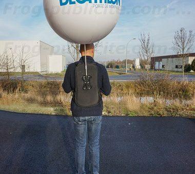 homme ballon Décathlon dans les rues de Caen | Street marketing