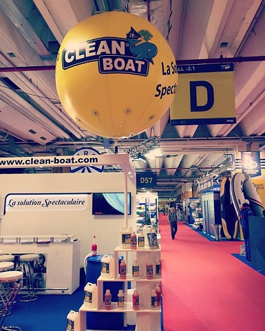 structure gonflable publicitaire au Salon Nautic 2017 | Clean Boat