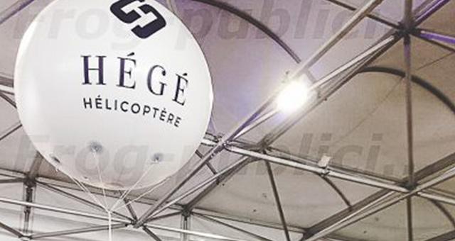 PLV salon professionnel: ballon publicitaire à l'hélium | Hégé hélicoptère