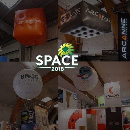ballons publicitaires helium salon profesionnel space 2017