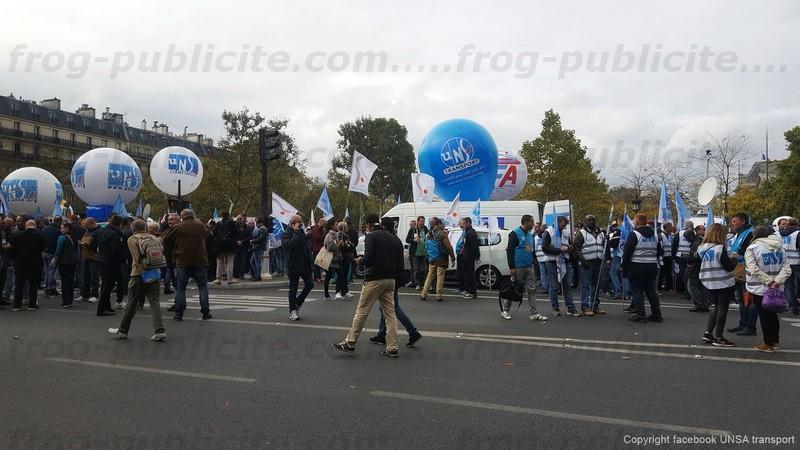 Manifestation loi travail 10 octobre 2017 Paris