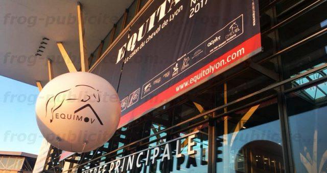 Ballon gonflable publicitaire pour stand | Salon Equita Lyon 2017