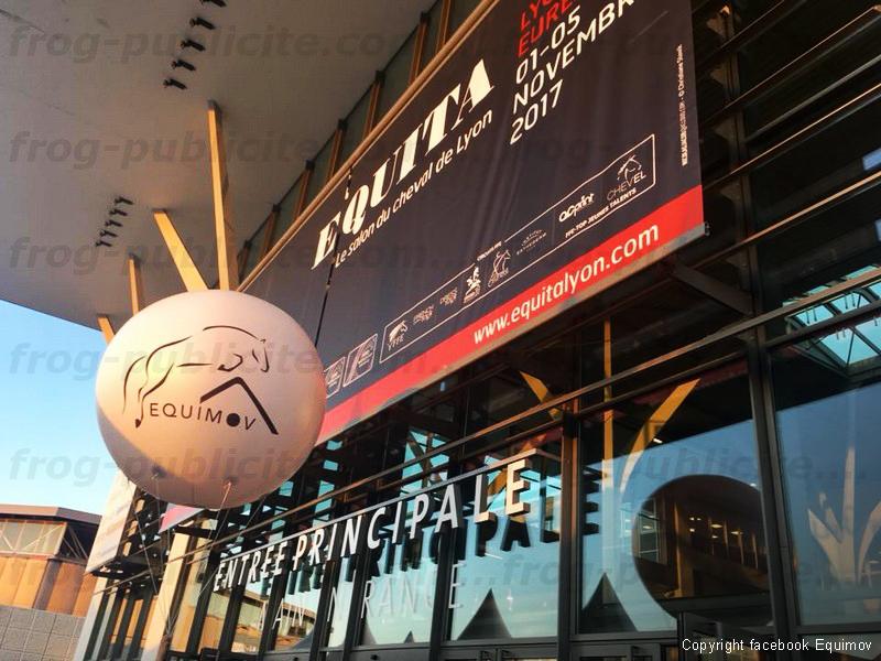 ballon gonflable publicitaire au salon Equita Lyon 2017