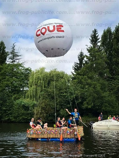 ballon publicitaire helium pour evenement sportif