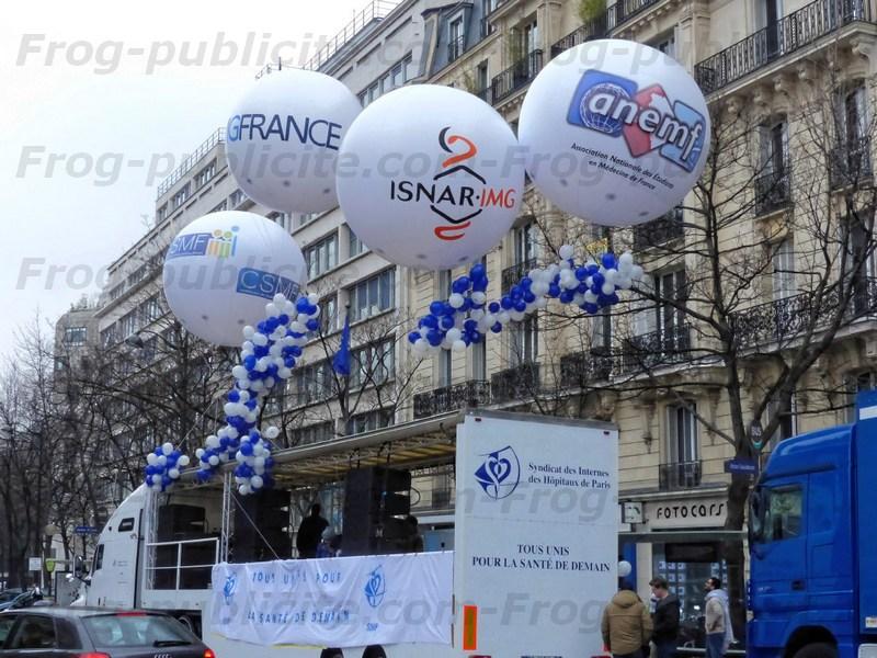 Ballons géants pour manifestation extérieur